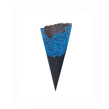 Κώνος παγωτού μαύρος με μπλε τρούφα Νο1